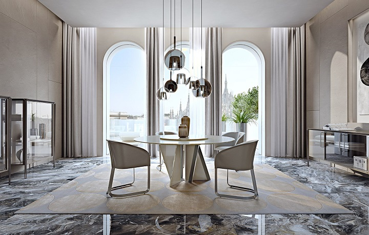 Новинки: Turri представляет новый круглый стол Milano