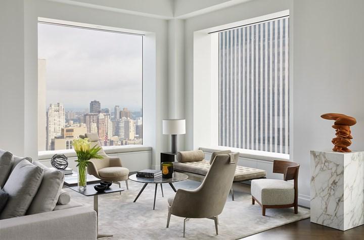 Проект мебели Flexform для роскошной квартиры коллекционера на Парк Авеню в Нью-Йорке