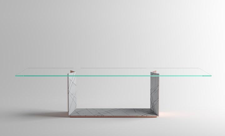 Стол T5 STONE, дизайн Джулио Манчини