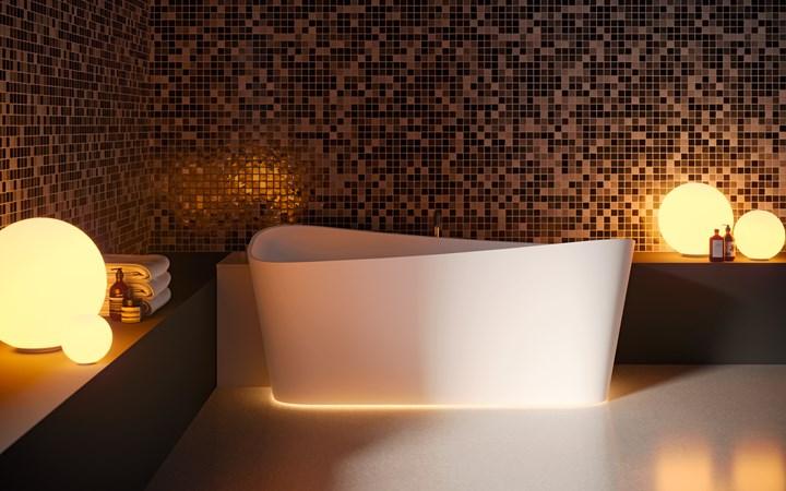 Бесконечность от Novellini: мягкие и извилистые линии ванной Infinitive