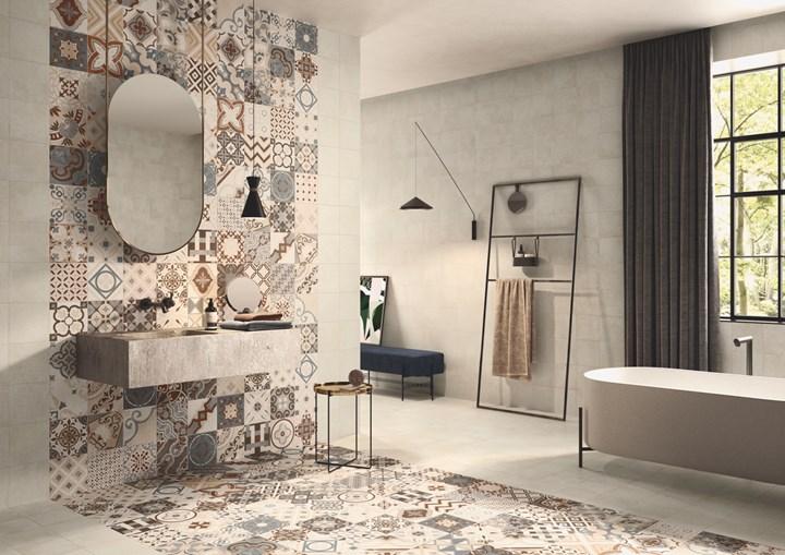 Меблировка в скандинавском стиле с использованием керамической плитки Casalgrande Padana
