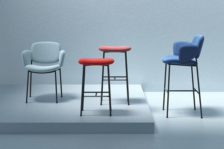Культовые кресла Arrmet в различных коллекциях на выставке Supersalone 2021